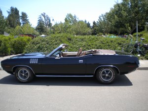 Here's a view of the 'Cuda.  I wish it was an AAR 'Cuda.  Google 1969 Plymouth AAR Barracuda.  Then, we'll be talking business.