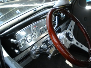 The interior is chrome, chrome, and more chrome.  Same for the engine.
