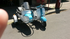 Are you a fan of a classic Vespa?  This stunning 1968 Vespa was for sale for a meager $6,000!  I was working on going 50/50 on it with my sister.  It didn't work.  It  has a 1971 engine for a bit more poewr and reliability.  The sidecar gives it a practical side...