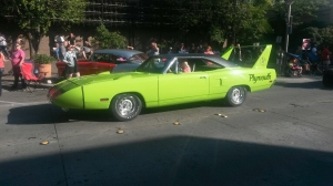 If this doesn't make you drool, then I don't know what will!  This stunning 1970 Plymouth Superbird was SOOOOO cool!  It was in the Limelight Green color, along with the Super Commando 440 cubic-inch V8.  More to come on this iconic car.