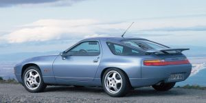This is a 1991 Porsche 928 GTS. It had a V8, lots of power, and I think, might have been the ultimate iteration of the front-engine Porsche sports cars born in the mid-1970s.